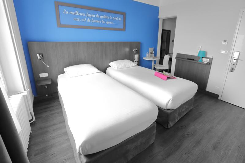 chambre twin beds